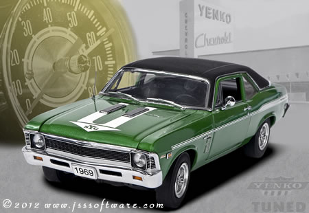 The Danbury Mint 1969 Yenko Nova.